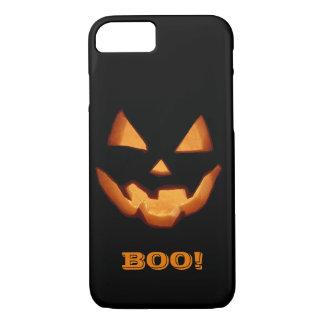 BOO! Glowing Jack O'Lantern Halloween Face iPhone 8/7 Case