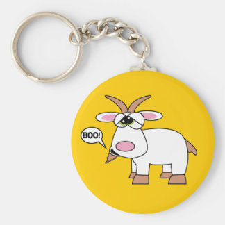 Boo! Goat Key Ring