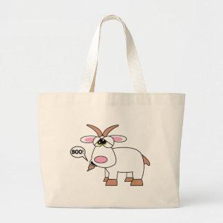 Boo! Goat Large Tote Bag