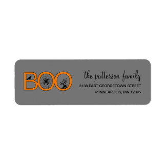 Boo! Halloween Address Label