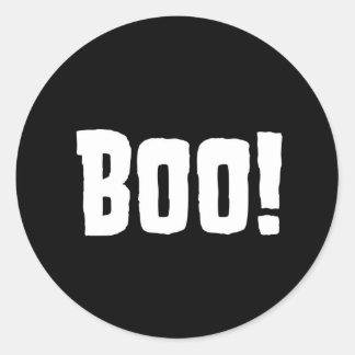 Boo! Halloween Birthday Stickers