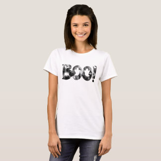 BOO! Halloween Black & White Scary Ghosts T-Shirt