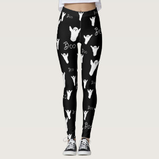 Boo Halloween Ghost Leggings