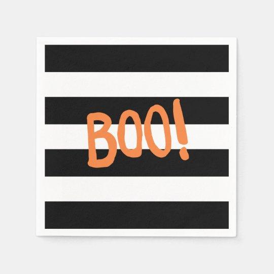 Boo! | Halloween Napkins Disposable Serviette