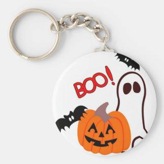 Boo Halloween Novelties Basic Round Button Key Ring