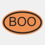 Boo Halloween Oval Sticker