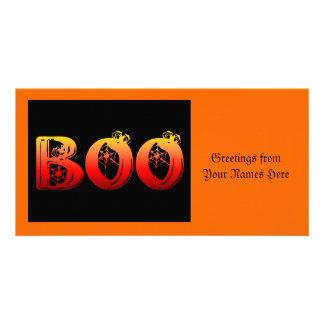 Boo Halloween Photo Cards
