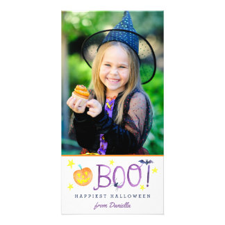 BOO | Halloween Photo Card