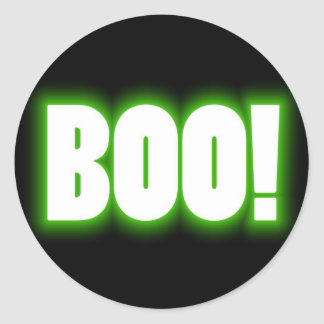 Boo! Halloween Sticker