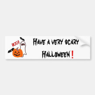Boo!  Happy Halloween! Bumper Sticker
