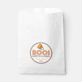 Boo! Happy Halloween Favor Bags (Candy Corn)