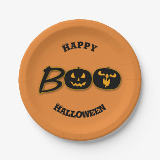 BOO Happy Halloween Party Celebration Fun Paper Plate