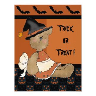 Boo! Hoo's Cute? Trick or Treat Halloween 11 Cm X 14 Cm Invitation Card