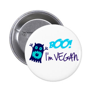 Boo! I'm Vegan 6 Cm Round Badge