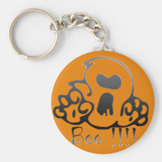 boo basic round button key ring