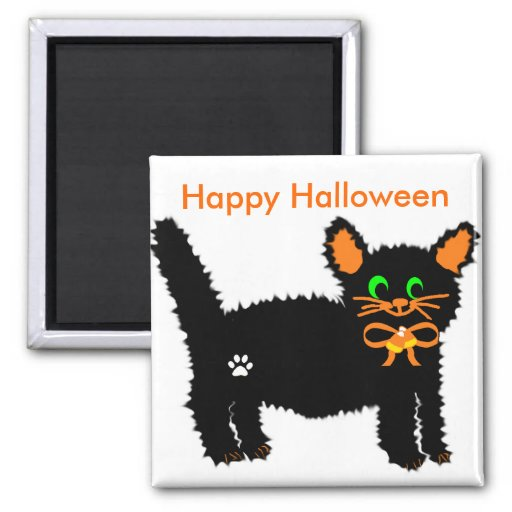 Boo kitty   Happy Halloween magnet
