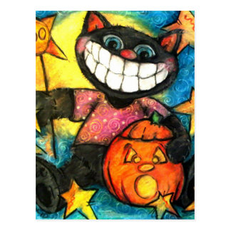 Boo Kitty Postcard