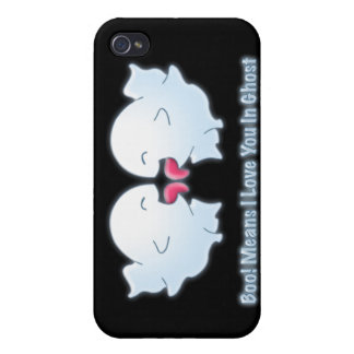 Boo Means I Love You in Ghost iPhone 4/4S Covers
