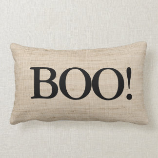 BOO on Burlap Halloween Pillow