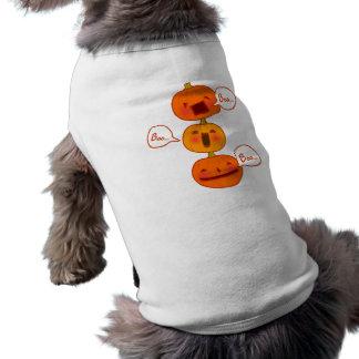 Boo.... Pumpkins Doodle Art Pet Clothing
