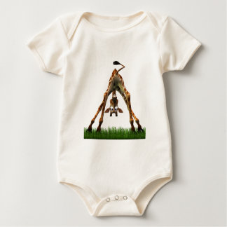 Boo! Says Olympia Giraffe. Baby Bodysuit