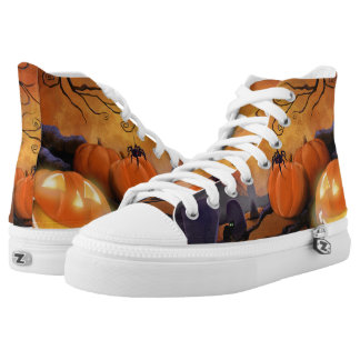 Boo Shooze Halloween High Tops Printed Shoes