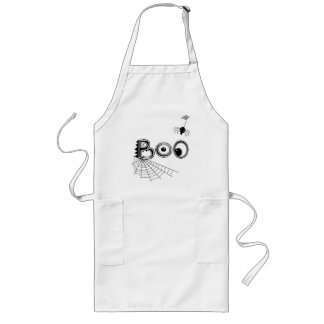 Boo! Spider Halloween Long Apron