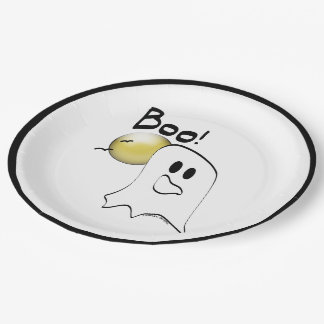 Boo Spooky Ghost Paper Plate