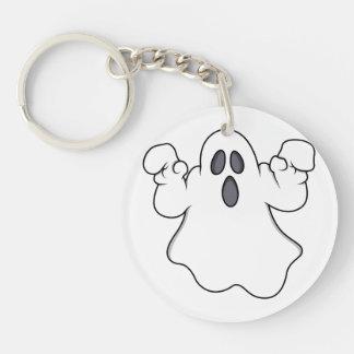 Boo! Spooky Halloween Ghost Single-Sided Round Acrylic Keychain
