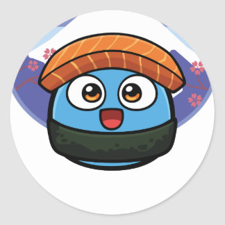 Boo Sushi Products Round Sticker