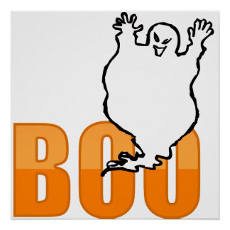 BOO! T-Shirt Posters