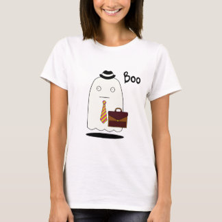 Boo The Ghost, Women's Basic T-Shirt, White T-Shirt
