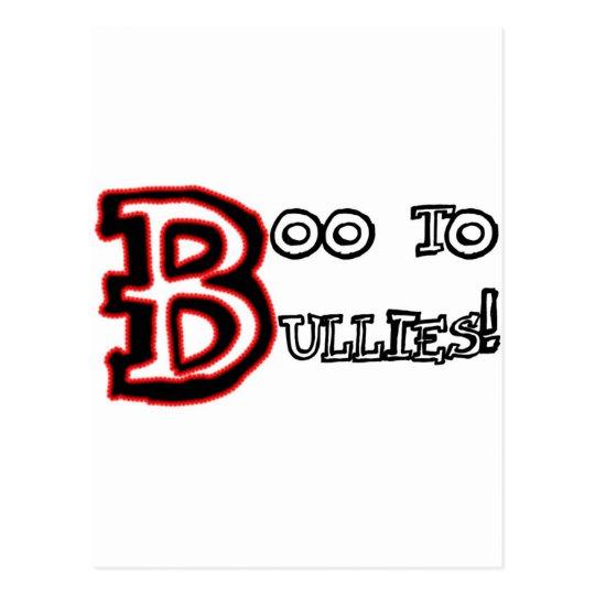 Boo to Bullies! Postcard