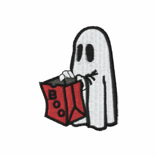 Boo Trick Or Treat Bag Ghost Kid - Embroidered