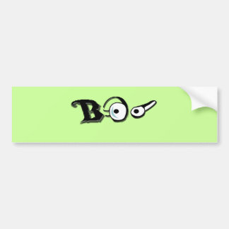 boo with eyes bumper sticker