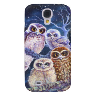 Boobook Owl Family Galaxy S4 Case