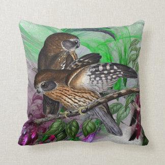 Boobook Owls Throw Pillow