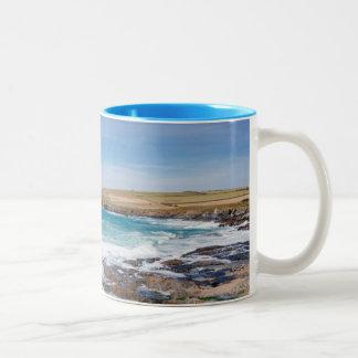 Boobys Bay Beach  England Two-Tone Mug