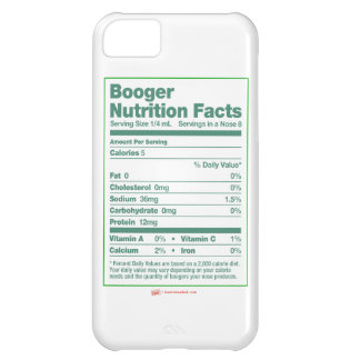 Booger Nutrition Facts iPhone Case iPhone 5C Case