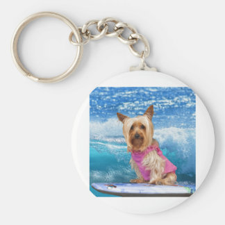 Boogie Boarding Basic Round Button Key Ring