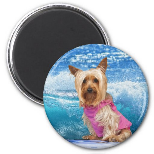 Boogie Boarding Refrigerator Magnets