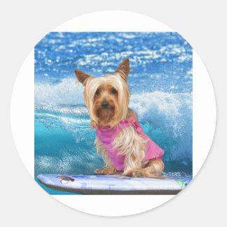 Boogie Boarding Round Sticker