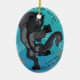 Boogie Dawg Christmas Ornament