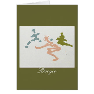 boogie girls greeting card