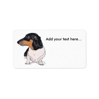 Boogie the dachshund address labels 2