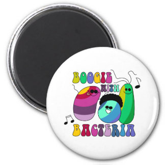 Boogie with Bacteria 6 Cm Round Magnet