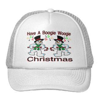 Boogie Woogie Christmas Snowmen Trucker Hats