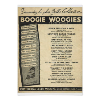Boogie Woogie Cover of sheet music Poster