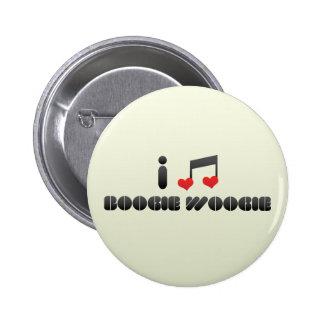Boogie Woogie fan Pinback Buttons