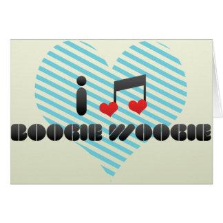 Boogie Woogie fan Greeting Card